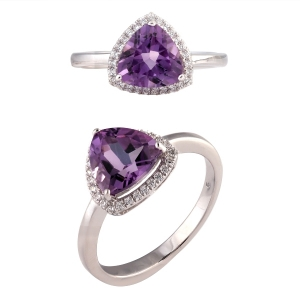 Trangle Amethyst Ring