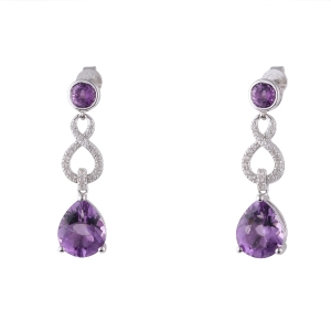 Purple Gemstones Earrings