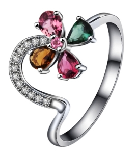 Ladies's Gift Tourmaline Rings